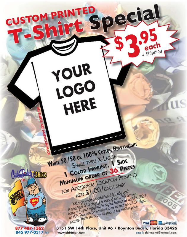$3.95 Wholesale Custom Printed TShirts- Design your own TShirts Online
