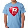 "SS-02 HEART- ""Thanks to 1st Responders"" on Lt. Blue SS TEE"